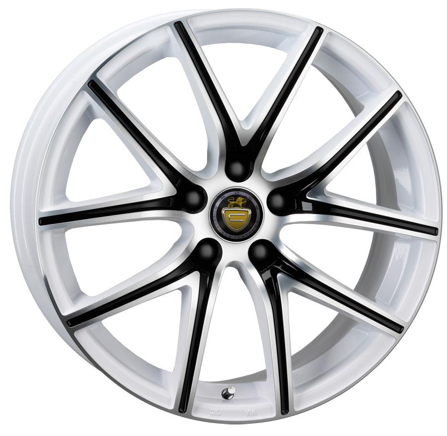 "18"" CADES Ares Wheels - White Tricolour"