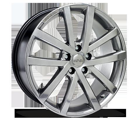 "18"" RIVA AVS Wheels - Platinum Silver - VW / Audi / Mercedes - 5x112"