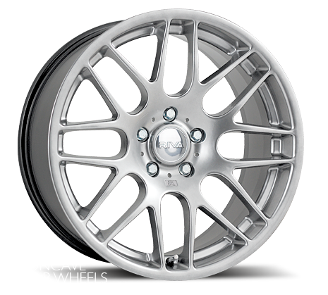 "17"" RIVA DTM Wheels - Hyper Silver - VW / Audi / MINI - 4x100"