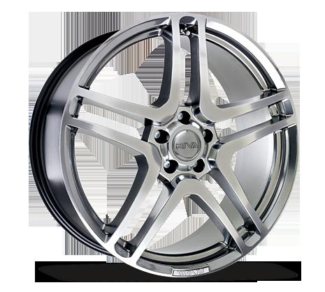 "18"" RIVA HMC Wheels - Platinum Silver - VW / Audi / Mercedes - 5x112"