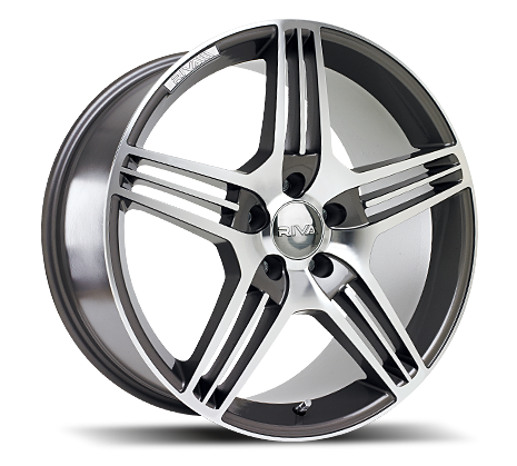 "18"" RIVA MAG Wheels - Gun Metal Polished  - VW / Audi / Mercedes - 5x112"
