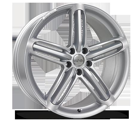 """17"""" RIVA RSX Wheels - Hyper Silver - VW / Audi - 5x100"""