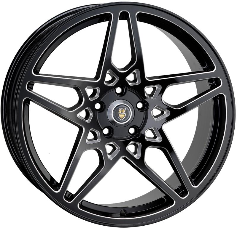 "20"" Staggered CADES Tirian Wheels - Accent / Black - Mercedes"