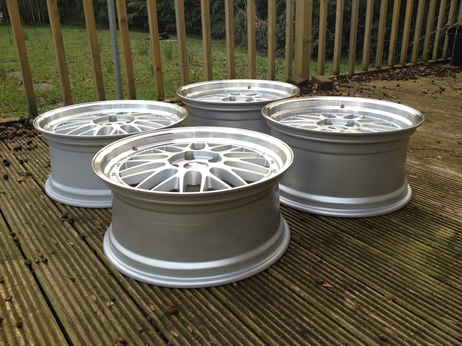 "19"" Staggered BBS LM Style Wheels - Silver / Polished Dish - E9x / E36 / E46 / Z4"