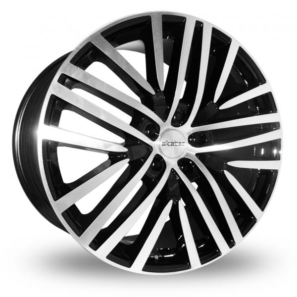 "22"" ALKATEC AKT 22 Wheels - Black Machined Face - 4x4 - 5x112"