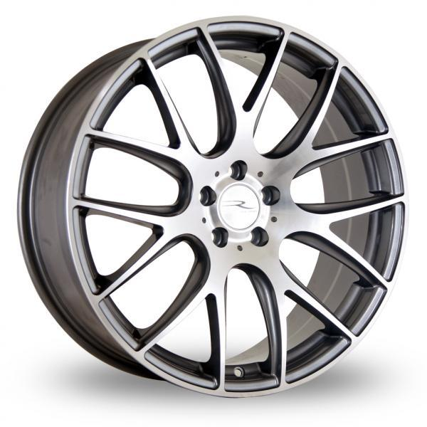 "18"" DARE NK1 Wheels - Gun Metal Polished Face - VW / Audi / Mercedes - 5x112"