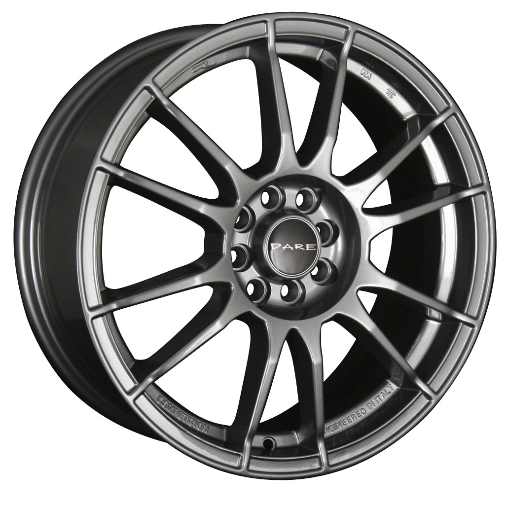 "17"" DARE ST Wheels - Matt Graphite - VW / Audi - 5x100"