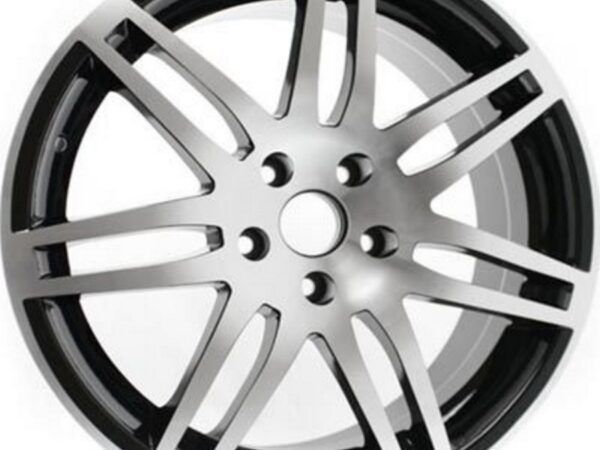 "19"" RS4 Style Wheels - Matt Black / Polished - VW / Audi - 5x100"