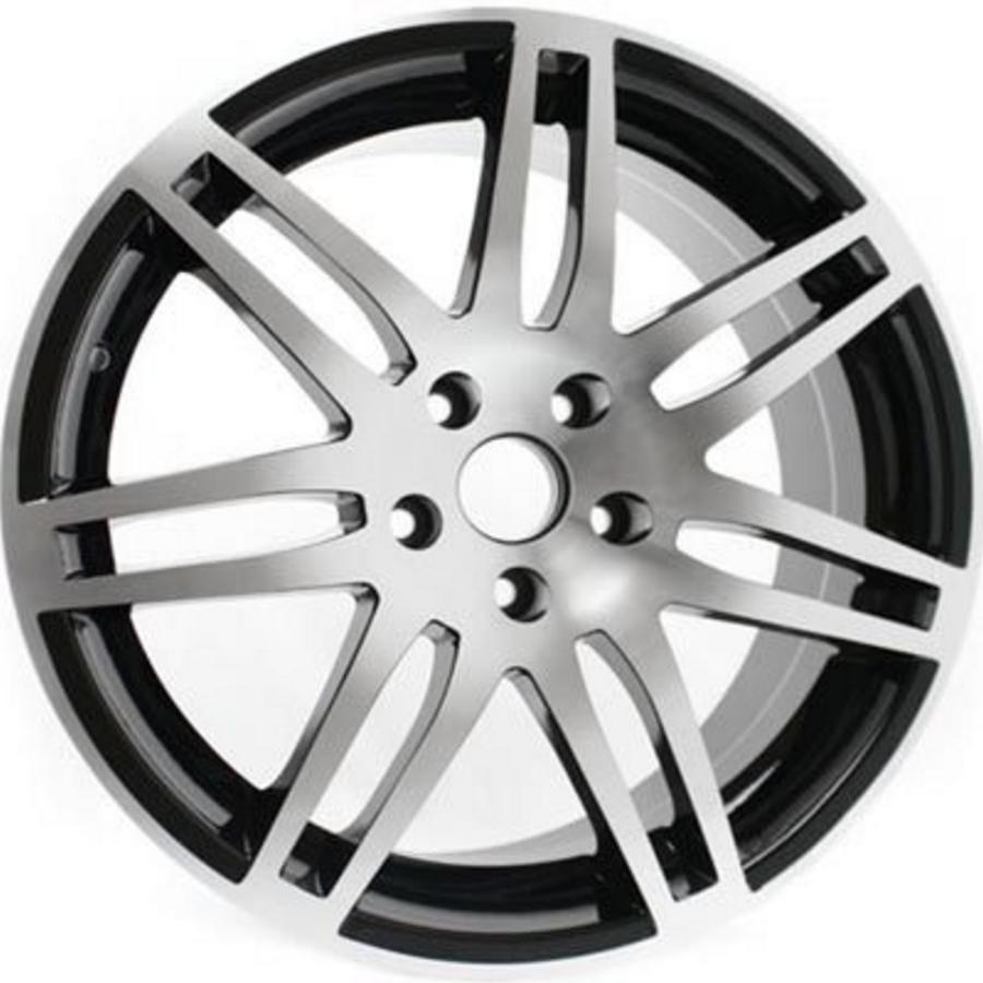 "19"" RS4 Style Wheels - Matt Black / Polished - VW / Audi - 5x100"