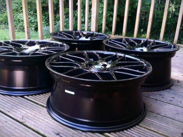 "19"" Staggered RIVA DTM (CSL Style) Wheels - Gloss Black - E9x / Z4 / E36 / E46 / 1 Series"