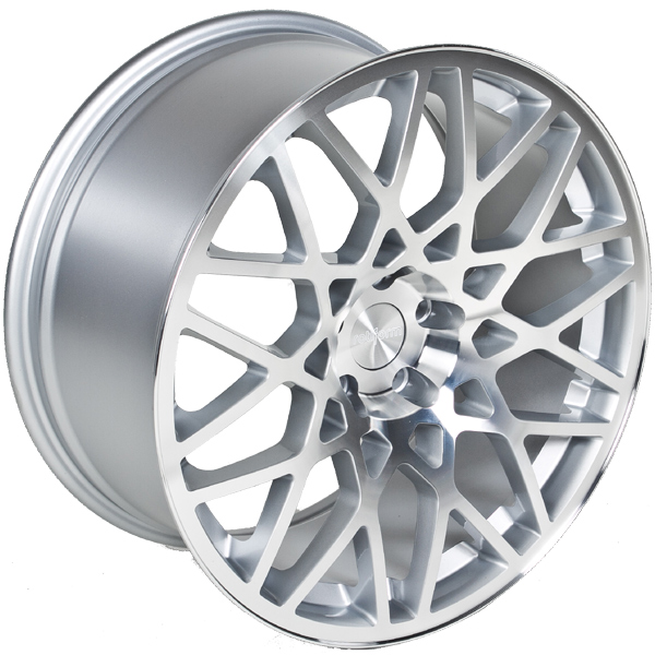 "18"" Rotiform Style Wheels - Silver / Polished Face - VW / Audi / Mercedes - 5x112"