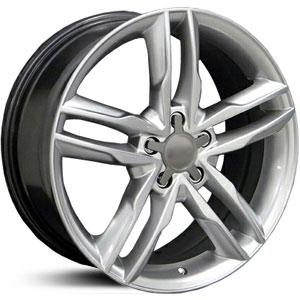 "18"" Audi S5 Style Wheels - Hyper Silver - VW / Audi - 5x112"