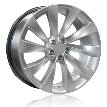 """18"""" Scirocco Fan Style Wheels - Hyper Silver - VW / Audi - 5x112"""