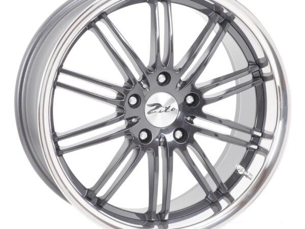 "19"" Staggered ZITO Belair Wheels - Anthracite / Inox Lip - VW / Audi / Mercedes - 5x112"