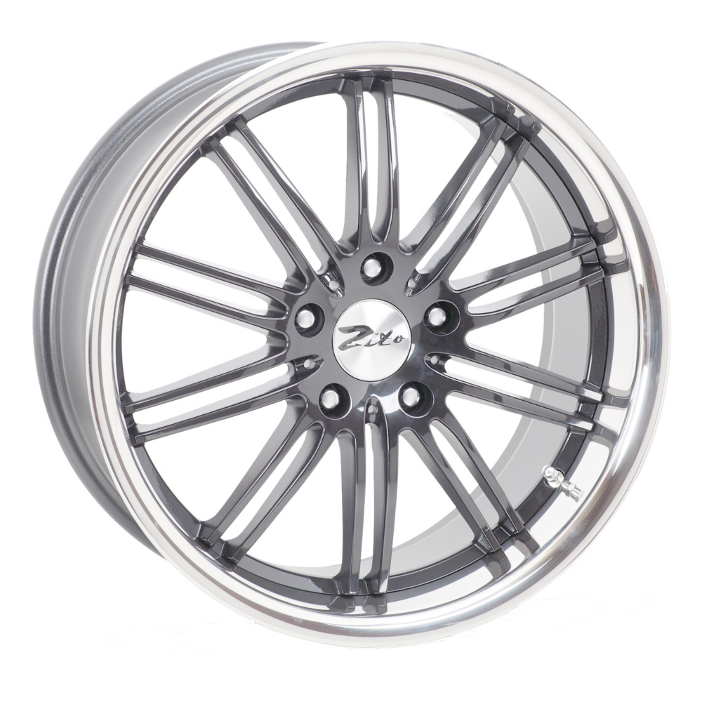 "19"" Staggered ZITO Belair Wheels - Anthracite / Inox Lip - VW / Audi / Mercedes - 5x112"