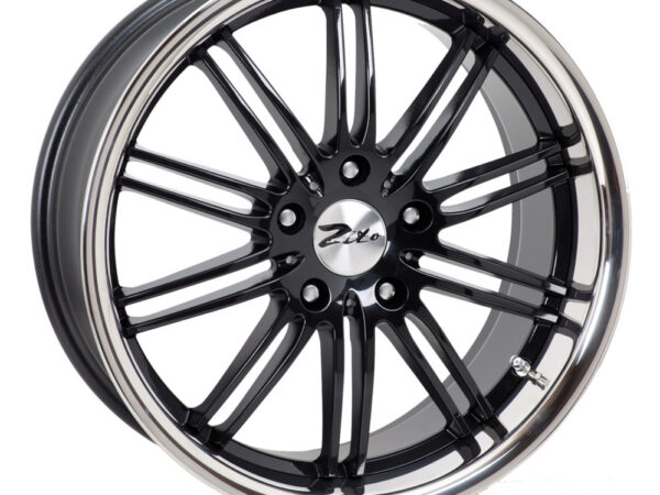 "17"" ZITO Belair Wheels - Black / Inox Lip - VW / Audi / Mercedes - 5x112"