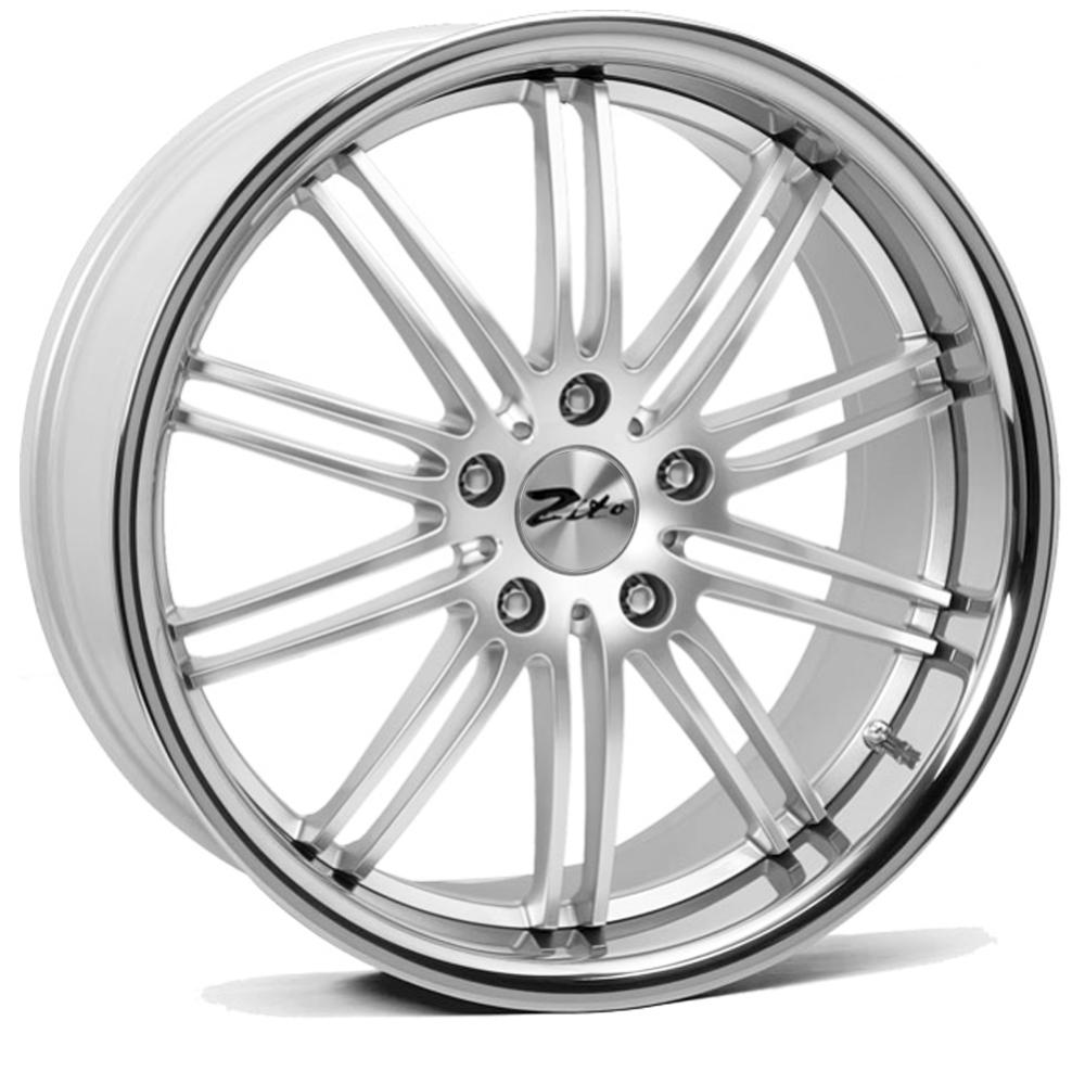"18"" ZITO Belair Wheels - Hyper Silver / Inox Lip - VW / Audi / Mercedes - 5x112"