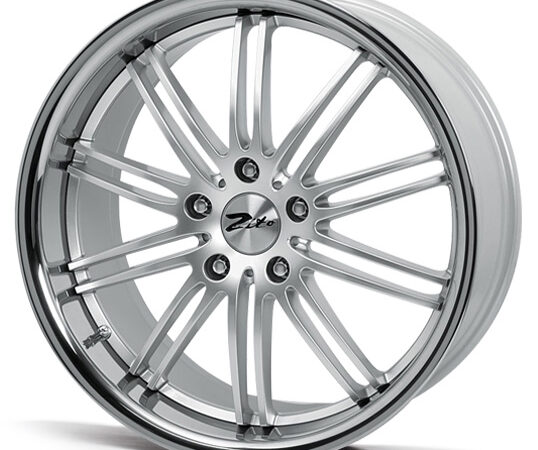 "17"" ZITO Belair Wheels - Silver / Inox Lip - VW / Audi / Mercedes - 5x112"