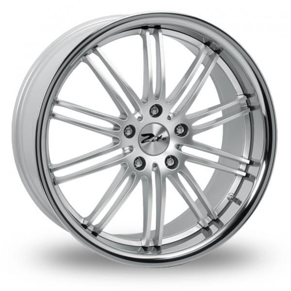 "18""  ZITO Belair Wheels - White / Inox Lip - E90 / E91 / E92 / E93 / F10"