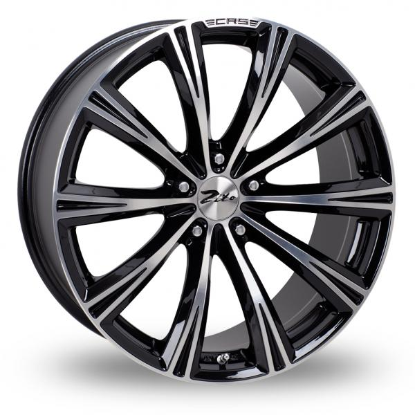 "18"" ZITO CRS Wheels - Black Polished - VW / Audi - 5x100"