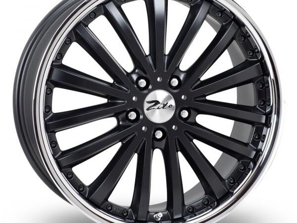 "18"" ZITO Orlando Wheels - Matte Black / Inox Lip - VW / Audi / Mercedes - 5x112"