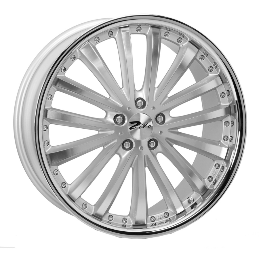 "20"" ZITO Orlando Wheels - Silver Polished - VW / Audi / Mercedes - 5x112"