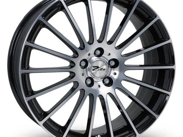 "17"" ZITO Spyder Wheels - Black / Polished - VW / Audi / MINI - 4x100"
