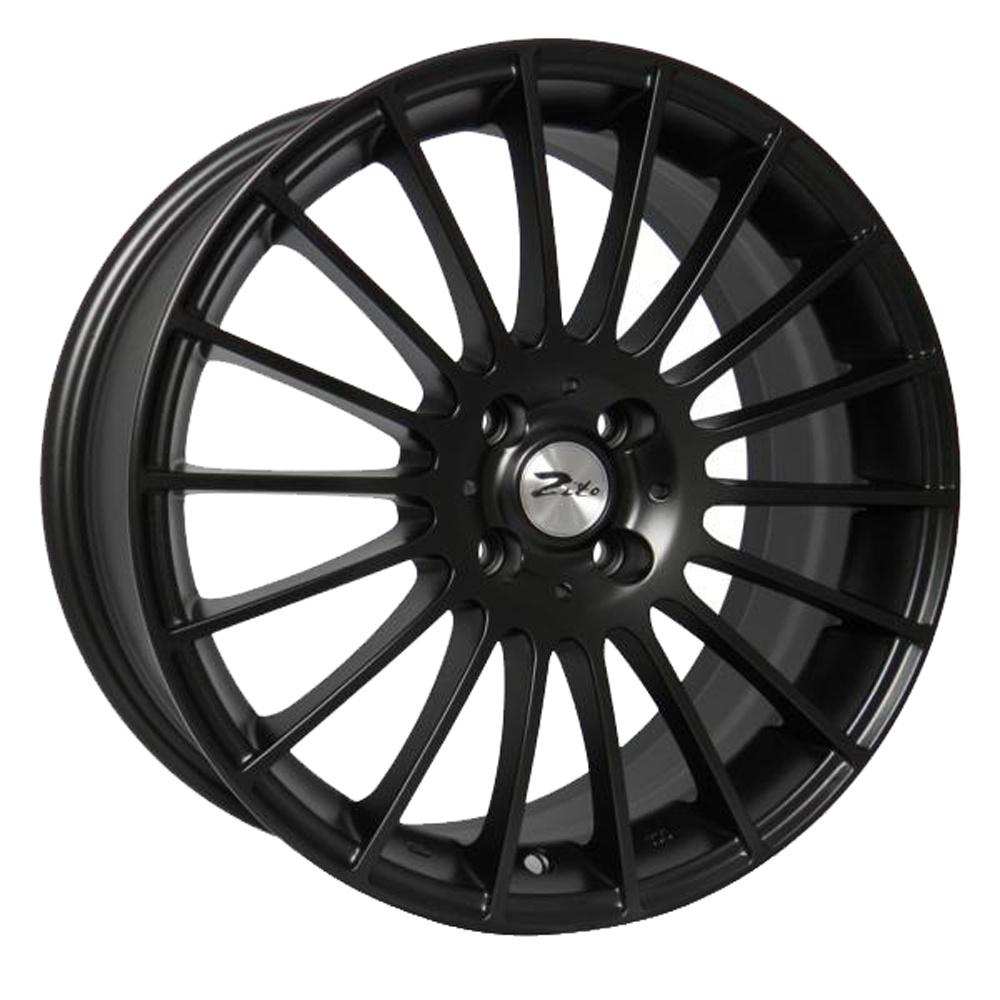 "17"" ZITO Spyder Wheels - Matt Black - VW / Audi / MINI - 4x100"