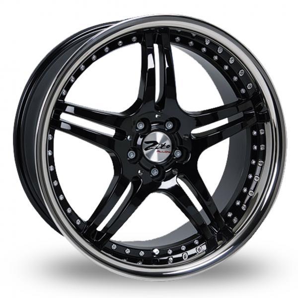 "17"" ZITO Titan Wheels - Black / Polished - 5 / 6 Series / E9x M3"