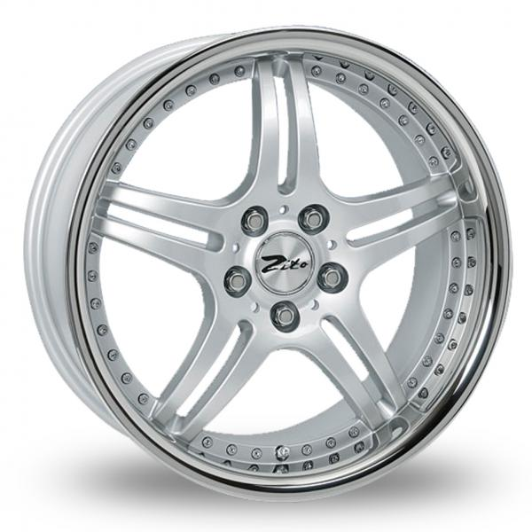 "18"" ZITO Titan Wheels - Silver / Polished - VW / Audi / Mercedes - 5x112"