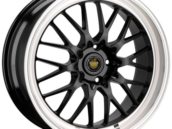 "17"" CADES TYRUS Wheels - Black / Polished Lip - VW / Audi / MINI - 4x100"