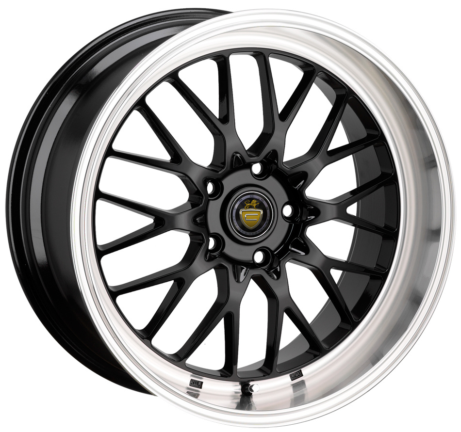 "17"" CADES TYRUS Wheels - Black / Polished Lip - VW / Audi / MINI - 4x100"