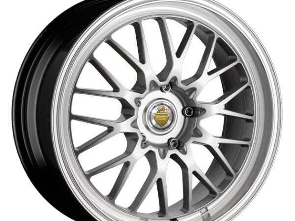 "17"" CADES TYRUS Wheels - Silver / Polished Lip - VW / Audi / MINI - 4x100"