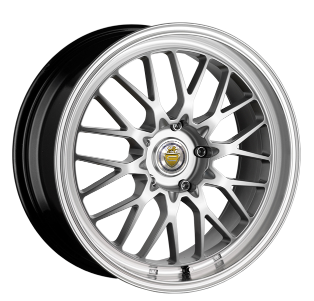 "17"" CADES TYRUS Wheels - Silver / Polished Lip - VW / Audi / MINI - 4x100"
