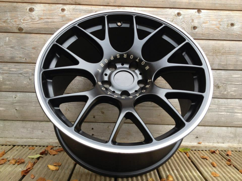 "19"" Staggered BBS CH-R Style Wheels - Black / Machined Lip - E9x / E46 M3"