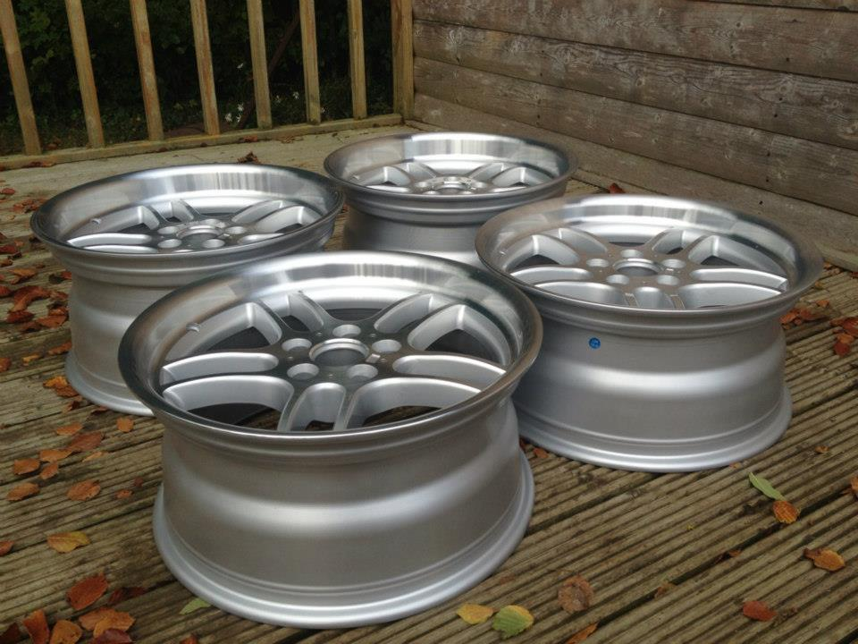 """18"""" Staggered M Parallel Style Wheels - Silver / Polished Dish - 5 / 6 / 7 Series / E9x M3"""