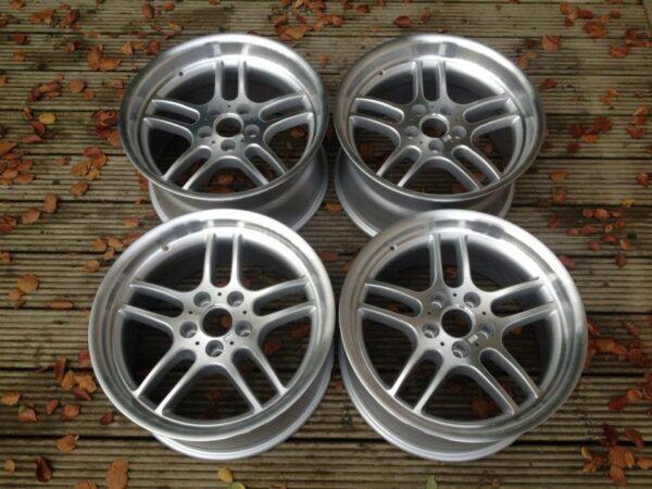 "18"" Staggered M Parallel Style Wheels - Silver / Polished Dish - 5 / 6 / 7 Series / E9x M3"