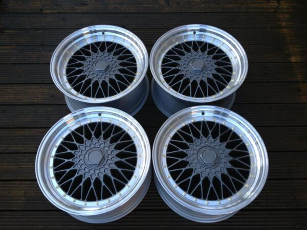 """19"""" Staggered BBS RS Style Wheels - Gun Metal / Polished - All Fitments Available"""