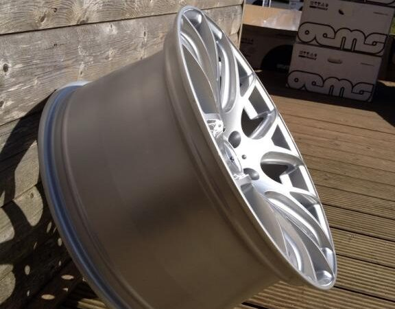 """18"""" Staggered 935 Style Wheels - Hyper Silver - VW / Audi / Mercedes - 5x112"""