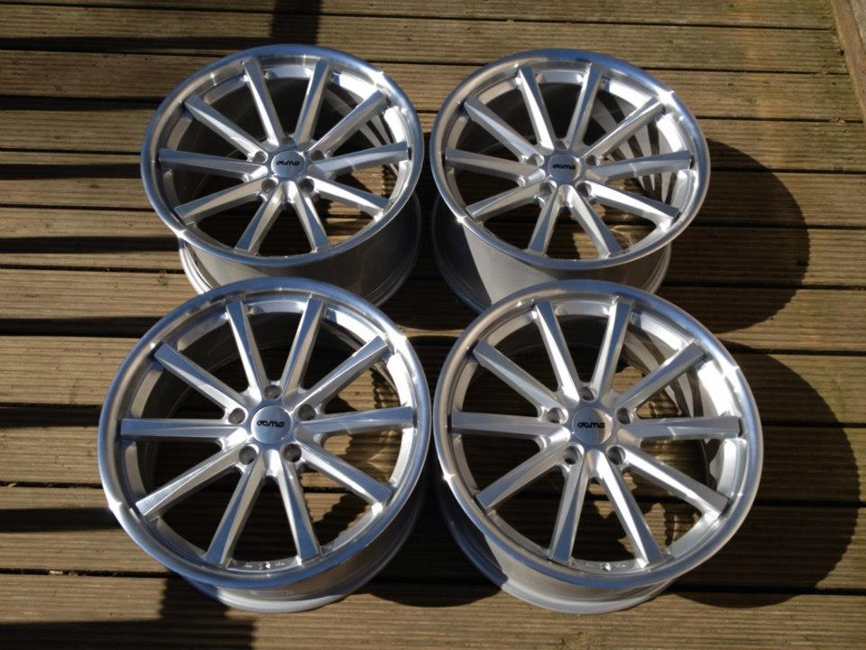 """19"""" Staggered OEMS 110 Wheels - Silver / Machined Face - VW / Audi / Mercedes - 5x112"""