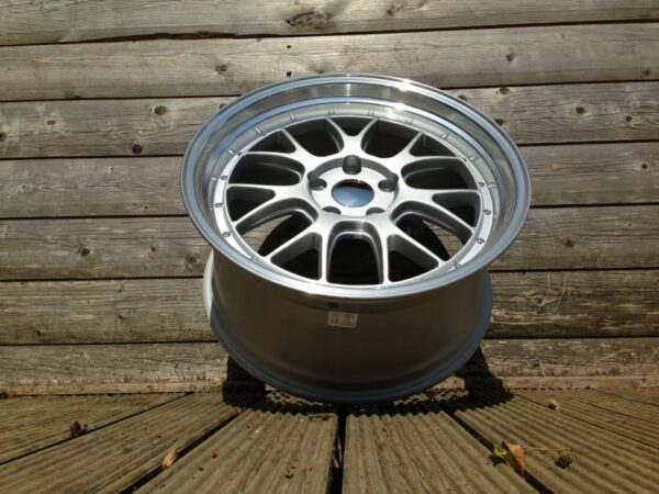 """19"""" Staggered BBS LM-R Style Wheels - Silver / Polished Rim - VW / Audi / Mercedes - 5x112"""