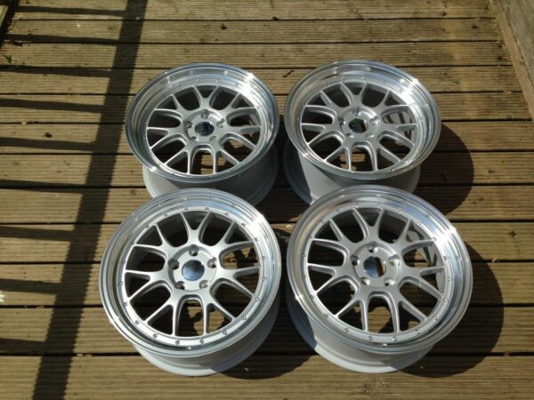 "19"" Staggered BBS LM-R Style Wheels - Silver / Polished Rim - VW / Audi / Mercedes - 5x112"