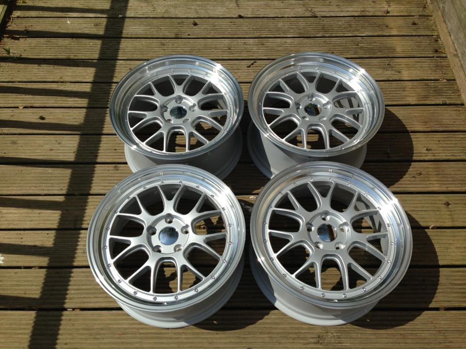 19 Staggered Bbs Lm R Style Wheels Silver Polished