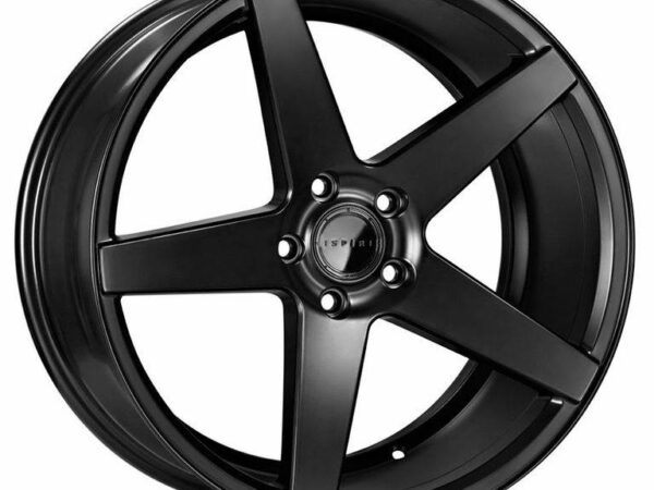 "19"" Staggered ISPIRI ISR5 Wheels - Matt Black - VW / Audi / Mercedes - 5x112"