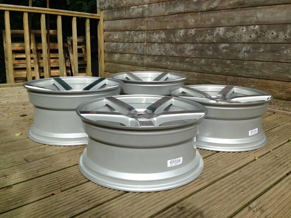 """20"""" Staggered OEMS 115 Wheels - Silver / Machined Face - E90 / E91 / E92 / E93"""