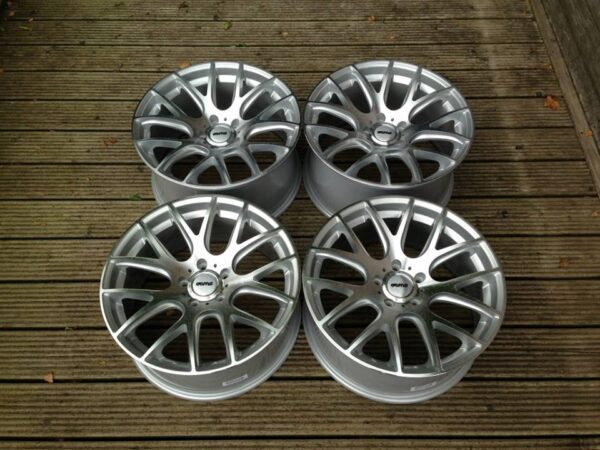 "19"" Staggered OEMS 935 Style Wheels - Silver / Machine Face - Audi / Volkswagen / Mercedes - 5x112"