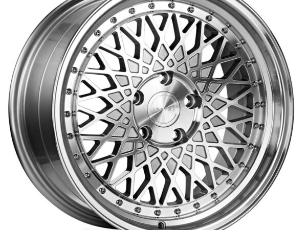 "18"" Staggered ISPIRI CSR3 Wheels - Silver Machined / Polished - E9x / E36 / E46 / F30"