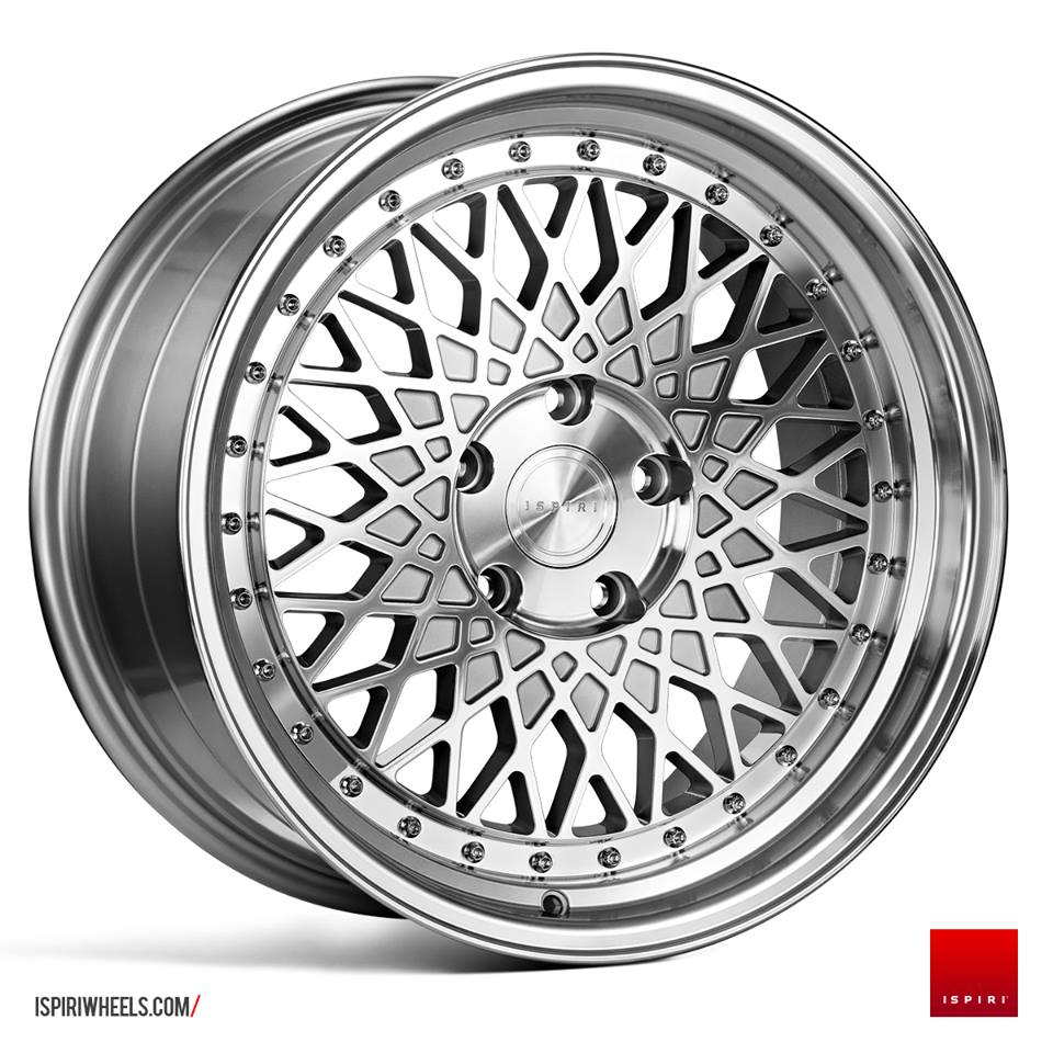 "18"" Staggered ISPIRI CSR3 Wheels - Silver Machined / Polished - E9x / E36 / E46 / F30"