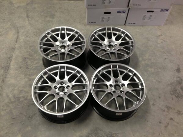 "19"" Staggered Atomic CSL Wheels - Hyper Silver - E90 / E91 / E92 / E93"