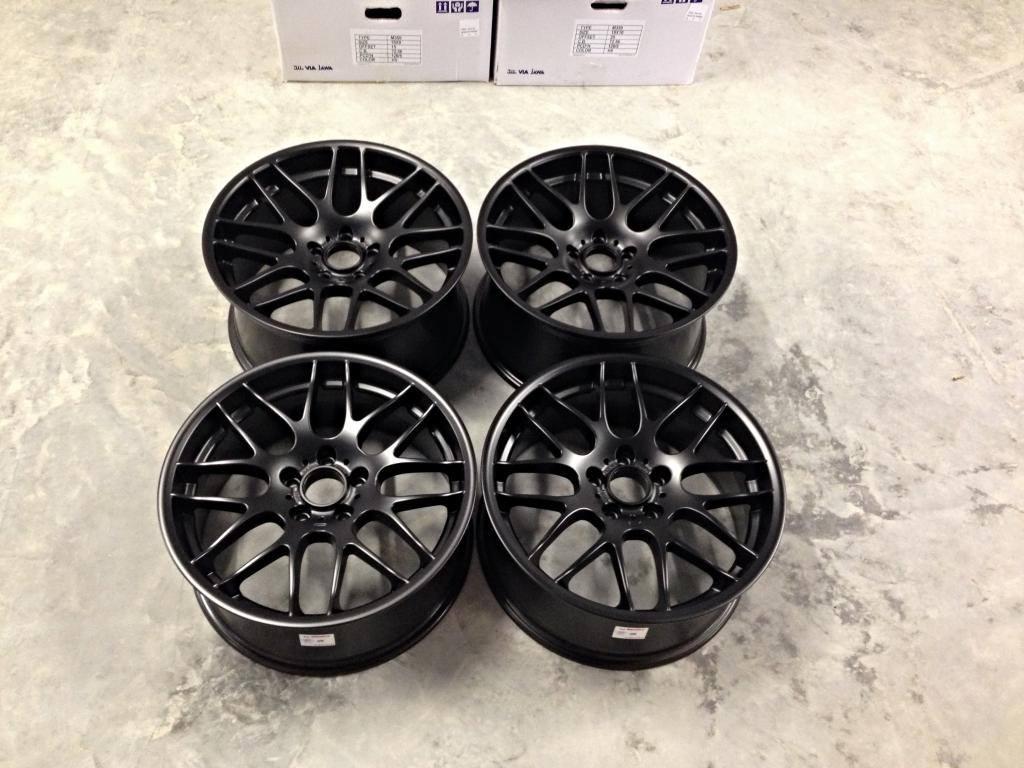 19″ Staggered Atomic CSL Wheels - Matt Black - E90 / E91 ...